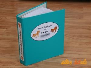 Freundebuch nach Maß - Ordner mit einzelnen Blättern - Fragen nach Wunsch! Jetzt auch für kleine Pferdefreunde ♡