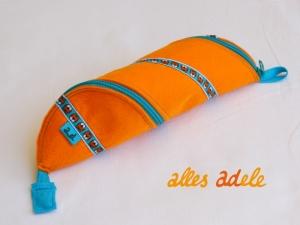 Spiralmäppchen aus Filz orange | Tiger-Webband