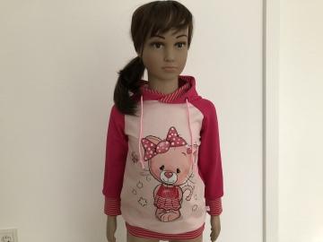 Kapuzenhoodie Katze pink/rosa Gr. 86 - 110 Pulli Handmade