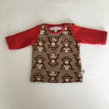 T-Shirt, Langarmshirt, Äffchen, Affe, Gr. 50-68