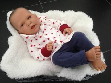 Baby Sweatjacke mit Kragen undDruckknöpf