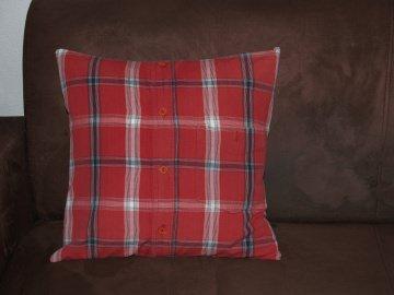 Kissenbezug rotweiß Karo