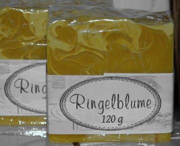 Ringelblumenseife - Calendulaseife handgemacht aus pflanzlichen Ölen