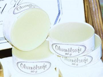 Olivenölseife ohne Duft und Farbstoffe - Natur pur