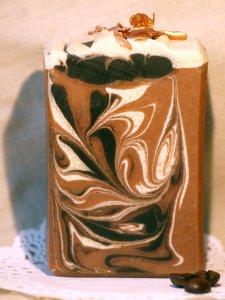 4,95 EURO/ 100 g --  90 g Kaffeeseife - Küchenseife  gegen Gerüche - mit echtem Kaffee
