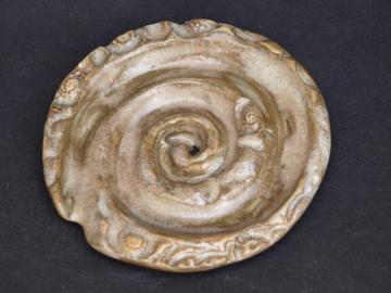Seifenablage handgemacht - Schnecke aus Keramik - Unikat