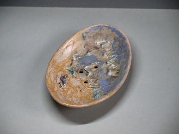 Seifen- oder Schmuckschale - Spuren im Sand - handgemachte Keramik