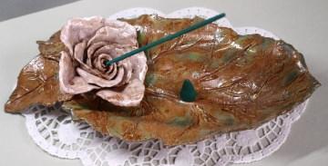Räucherschale aus Keramik zum Räuchern mit Weihrauch und Räuchersand
