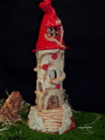 Märchenturm 36 cm - Feenturm - Keramik - Handarbeit kaufen