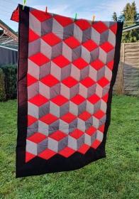 Patchworkdecke Quilt zum Kuscheln oder als Überwurf 120x200 cm genäht von NahtundMasche - Handarbeit kaufen
