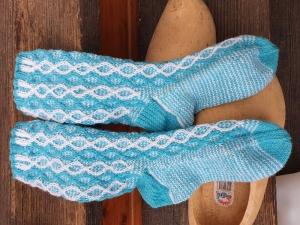 Socken Gr. 38-39 handgestrickt  4fädige Sockenwolle - Handarbeit kaufen
