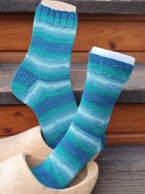 Socken für Wollallergiker Gr. 42-43, von NahtundMasche handgestrickt mit Sensitive Socks aus der KKK Kollektion - Handarbeit kaufen