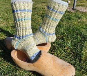 Gestrickte Socken im