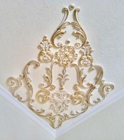 Traumhafte Stuck Ecke für die Decke in weiß, gold, silber.. Variante 3 - Handarbeit kaufen