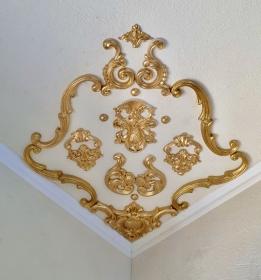 Traumhafte Stuck Ecke für die Decke in weiß, gold, silber.. Variante 16 - Handarbeit kaufen