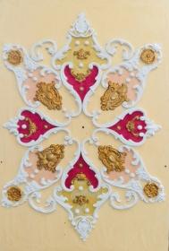 Gips Stuck Deckenspiegel, Rosette in weiß, gold, silber.. Variante B1 - Handarbeit kaufen