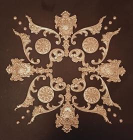 Gips Stuck Deckenspiegel, Rosette in weiß, gold, silber.. Variante D35 - Handarbeit kaufen