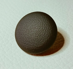 Knopf, Öse, Polsterknopf, mit Leder bezogen, 20 mm, Schwarz - Handarbeit kaufen