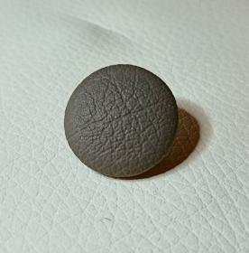 Knopf, Öse, Polsterknopf, mit Leder bezogen, 20 mm, Grau, Graphite - Handarbeit kaufen