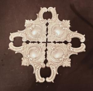 4-er Set Eck-Elemente in GOLD, Gips Stuck, Dekoelemente, Dekoration, Handmade  - Handarbeit kaufen