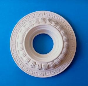 Gips Stuck Rosette 14 cm mit Innenloch für Lampe - Handarbeit kaufen