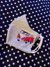 Bulli Bus stoffmaske Maske Kinder handmade  - Handarbeit kaufen