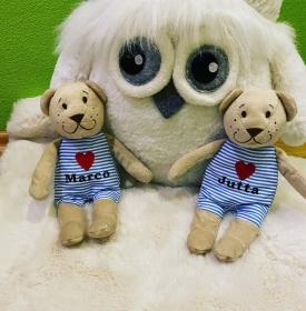 Kleiner süßer Teddy mit Namen  - Handarbeit kaufen