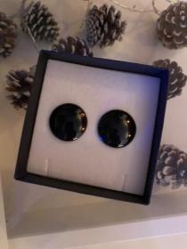 Ohrringe cabochon aus epoxidharz  - Handarbeit kaufen