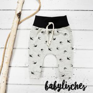 Baby Hose / Pants / Jogger aus Jersey Schwalben Größen 56- 104