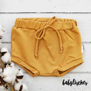 Bummie / Shorts aus Jersey Ocker  Gr.104 - Handarbeit kaufen