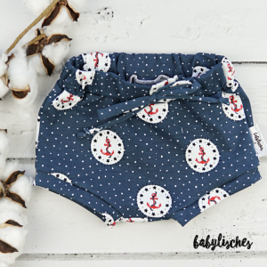 Bummie / Shorts aus Jersey Maritim  Gr.68 - Handarbeit kaufen