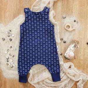 Baby Harem Romper aus Jersey -Anker- Gr.68 - Handarbeit kaufen
