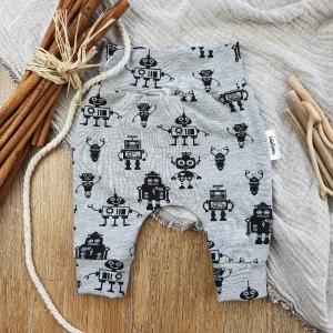 Baby Pants aus Jersey -Robots- Gr.56  - Handarbeit kaufen