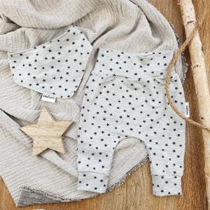 Set BabyPocket Pants & passendes Halstuch aus Jersey -Stars- Gr.62    - Handarbeit kaufen