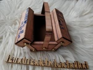 Werkzeugkasten Werkzeugkoffer Gutscheinverpackung Männergeschenk