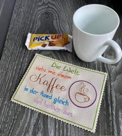 MugRug 13x18 Kaffeespruch in verschiedenen Dateiformaten - Handarbeit kaufen