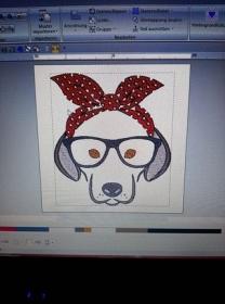 Hund mit Brille - Handarbeit kaufen