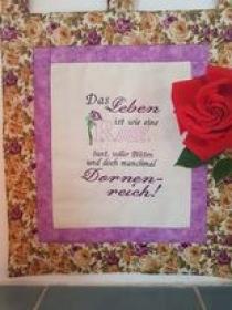 Spruch Rose - Handarbeit kaufen