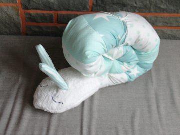 puckschnecke  schöne lange bettschlange schlafrolle stillkissen lagerungskissen