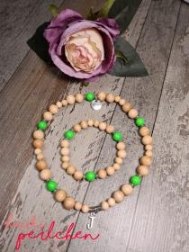 Perlenhalskette für Hunde mit passendem Armband für Frauchen/Herrchen - Handarbeit kaufen