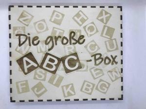 Die große ABC- Box aus Holz, Alphabet, Lernbuchstaben, Montessori Spielzeug, Kinder Puzzle, pädagogisches Spielzeug, Waldorf, Home Schooling