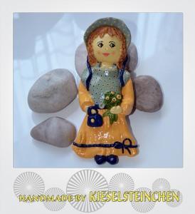 Salzteig Figur Mädchen feines Fräulein