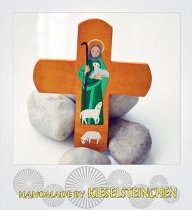 Kinderkreuz Modern mit Schäfer und Schafen