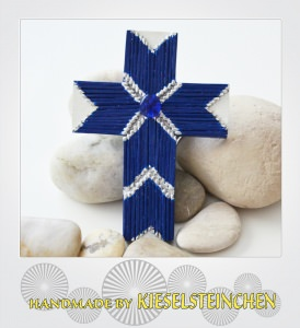 Kinderkreuz besondere Art in blau