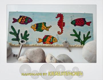 Schlüsselbrett-Schmuckbrett  Fische
