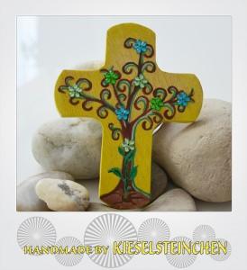 Kinderkreuz Modern mit Lebensbaum
