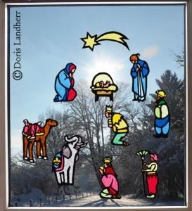 Fensterbild Weihnachten mit 10 Motiven