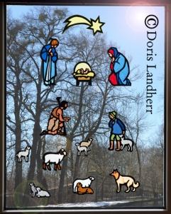 Schäfer Fensterkrippe mit 12 Figuren