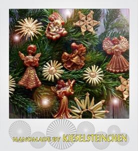 Traditioneller Weihnachtsschmuck aus Wachsmodel (10Stück)