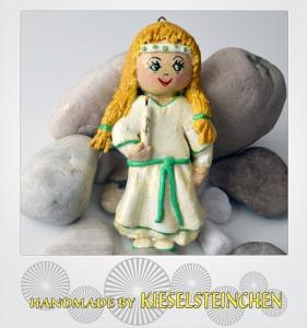 Salzteig Figur Kommunion Mädchen